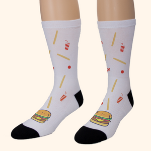 Socks Unisex (Cute Hamburger)