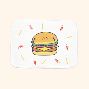 Bath Mat (Cute Hamburger)