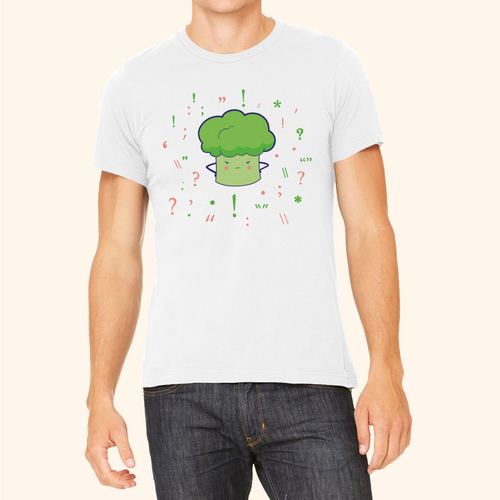 T-Shirt (Cute Broccoli)