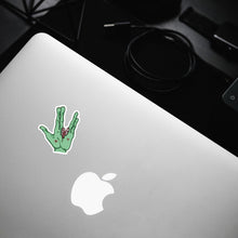 "Load image into Gallery viewer, ""Vulcan"" Zombie Hand Sticker"
