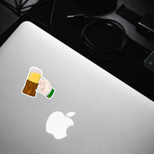 "Load image into Gallery viewer, ""Beer"" Saint Patrick Hand Sticker"