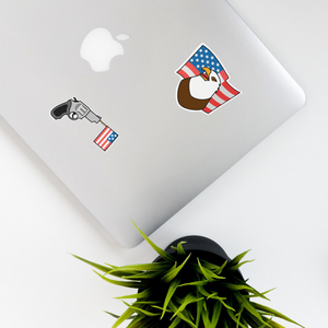 American Kiss Cut Stickers