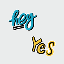 Load image into Gallery viewer, Lettering Kiss Cut Stickers