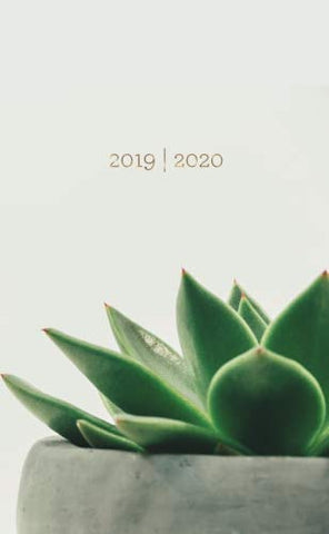 2019-2020: Two-Year Monthly Pocket Planner With Phone Book + Notebook | Mini 4 X 6.5 | Modern Succulent (Succulent Gifts) (Volume 28)