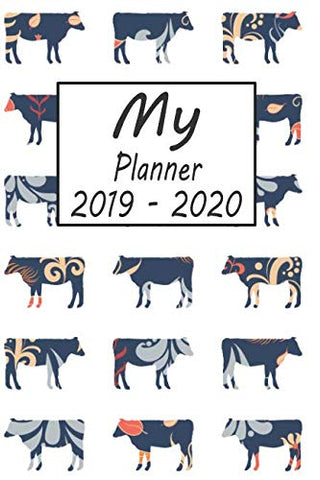My Planner 2019 - 2020: Cow Pattern Weekly Planner 2019 - 2020: 24 Month Agenda - Calendar, Organizer, Notes, Goals & To Do Lists