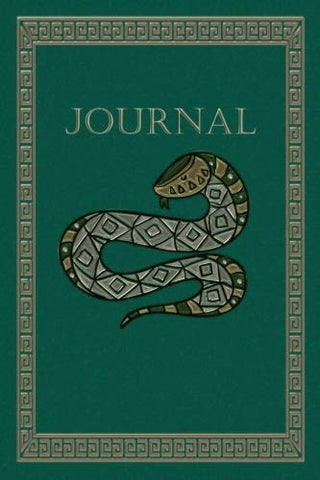 Green Snake Journal: Lined Notebook 6 X 9 In (15.2 X 22.9 Cm)