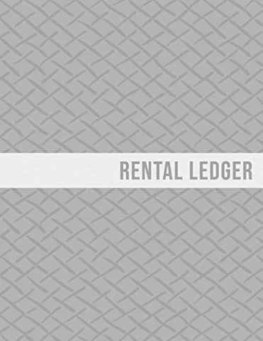 Rental Ledger: Gray Pattern Tenancy Property Lease Accounting Tracker Grey Notebook
