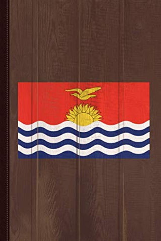 Kiribati Flag Journal Notebook: Blank Lined Ruled For Writing 6X9 110 Pages
