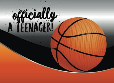 Officially A Teenager: Basketball Celebration Guest Message Book | Keepsake | Milestones Birthdays | 90 Blank Unlined Pages | Boys & Girls | Small 8.25X 6 Soft Back Cover (Teenagers) (Volume 7)