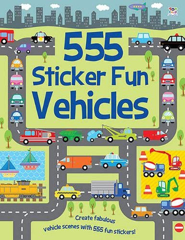 555 Sticker Fun Vehicles