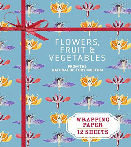 Flowers, Fruit & Vegetables From The Natural History Museum: Wrapping Paper: 12 Sheets (Wrapping Paper Books)