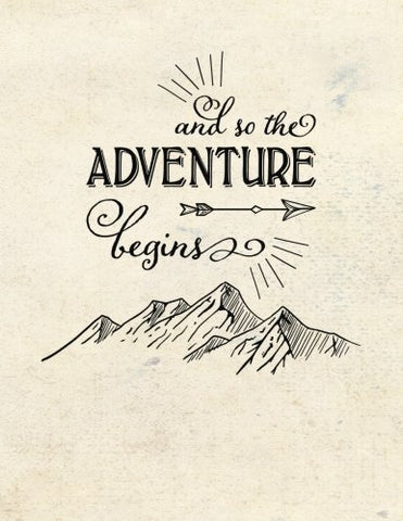 And So The Adventure Begins: (8.5 X 11 Large)(Dot Grid) Blank Journal Notebook Organizer Planner Sketchbook Gratitude Diary Camping Mountains Bushcraft