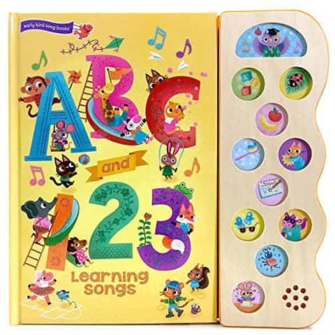 Abc & 123 Learning Songs: Interactive Children'S Sound Book (11 Button Sound) (Early Bird Song Books)