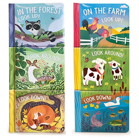 3-In-1 Board Books On The Farm/In The Forest