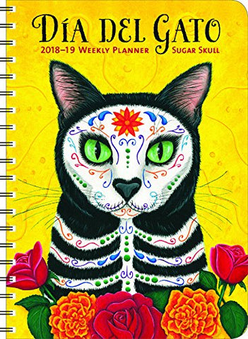 Sugar Skull 2019 On-The-Go Weekly Planner: 17-Month Calendar With Pocket (Aug 2018 - Dec 2019, 5 X 7 Closed)