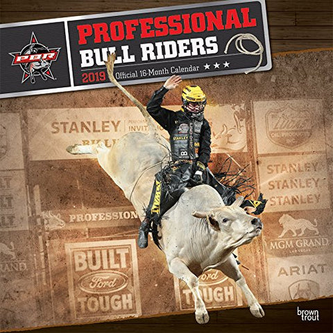 Pbr Professional Bull Riders 2019 12 X 12 Inch Monthly Square Wall Calendar, Rodeo Country Sport