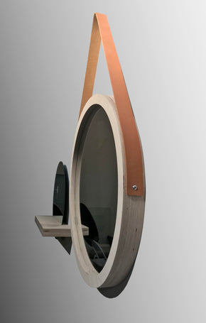 Porthole with Leather Strap