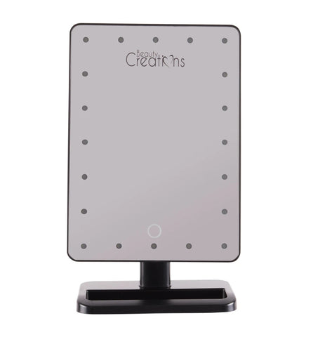 20 LED TOUCH SMALL MIRROR - BLACK