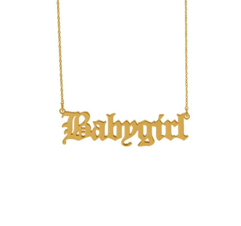 Babygirl Gold Dipped Necklace