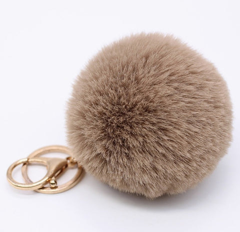 Key Chain Furry Pom Pom