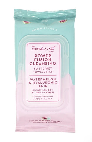 Power Fusion Cleansing 60 Pre-Wet Towelettes - Watermelon & Hyaluronic Acid