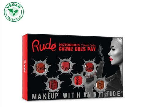 Crime Does Pay Notorious 6 Lip Color Set - Dark