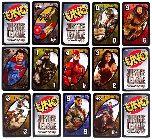 Mattel Games Uno Licensed Justice League Card Game 1