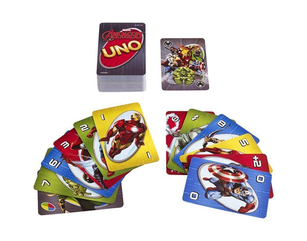 Mattel Games Uno Marvel Avengers Card Game 1