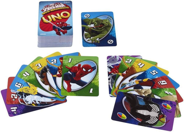 Mattel Uno Marvel Ultimate Spiderman Card Game 1