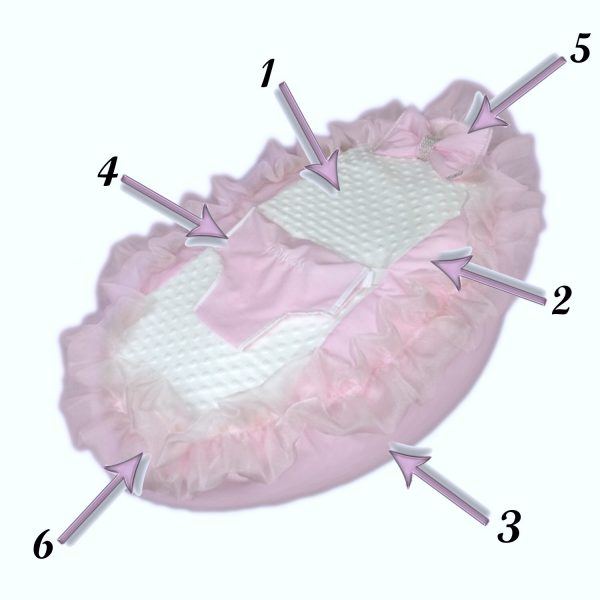 Build Your Own Baby Bean Bag - Frilly