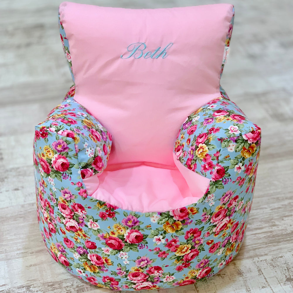 Personalised Vintage Floral Bean Bag Chair