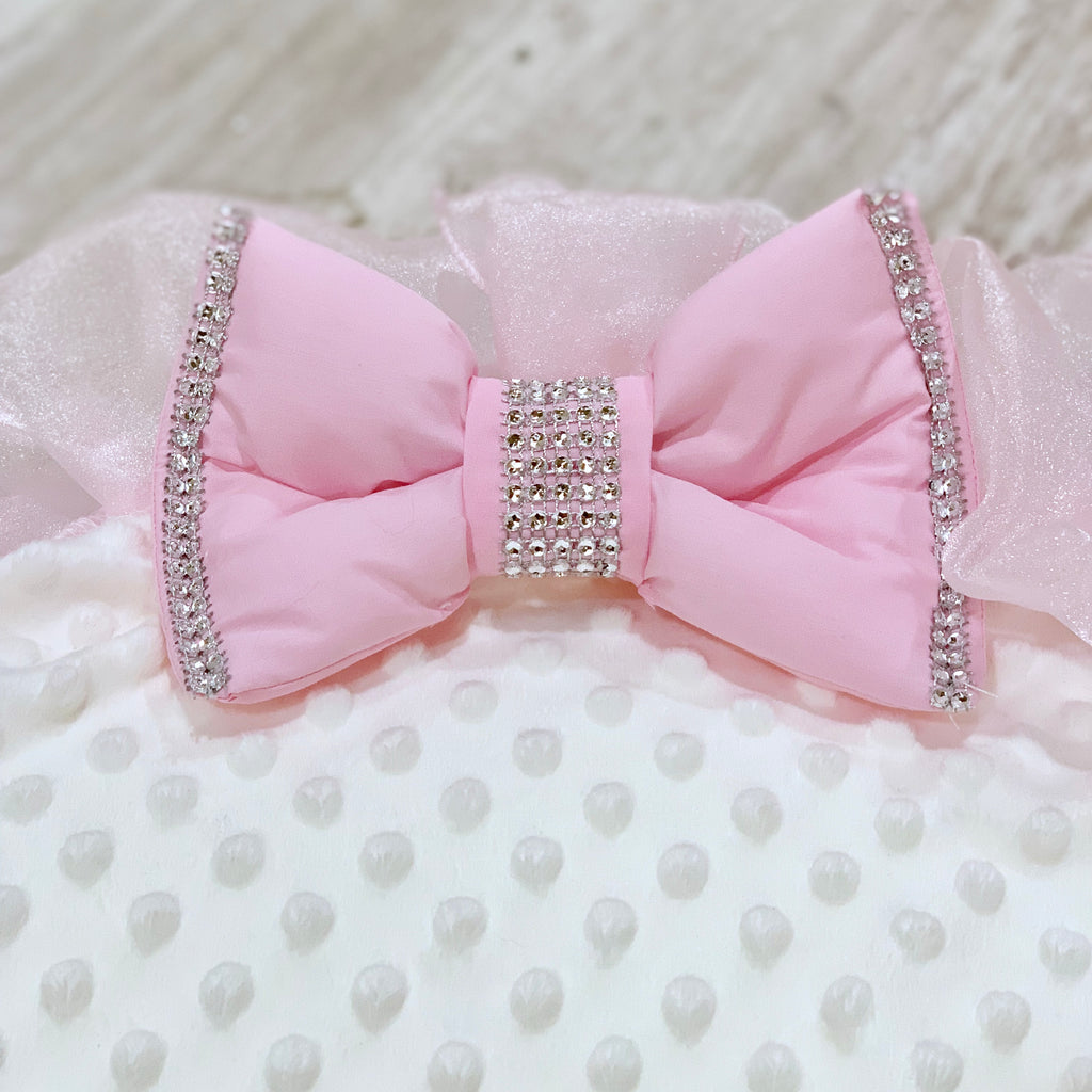 Personalised Pink Frilly Bling Baby Bean Bag