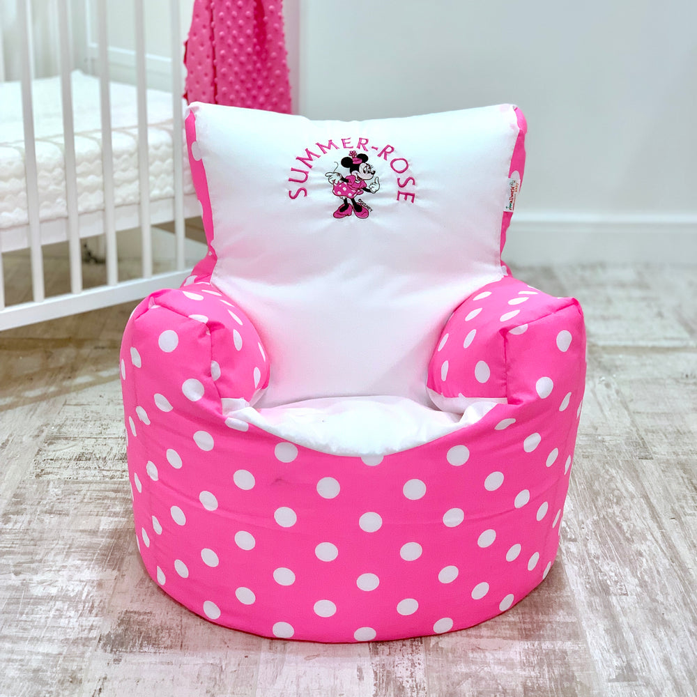 Personalised Minnie Mouse Bean Bag Chair