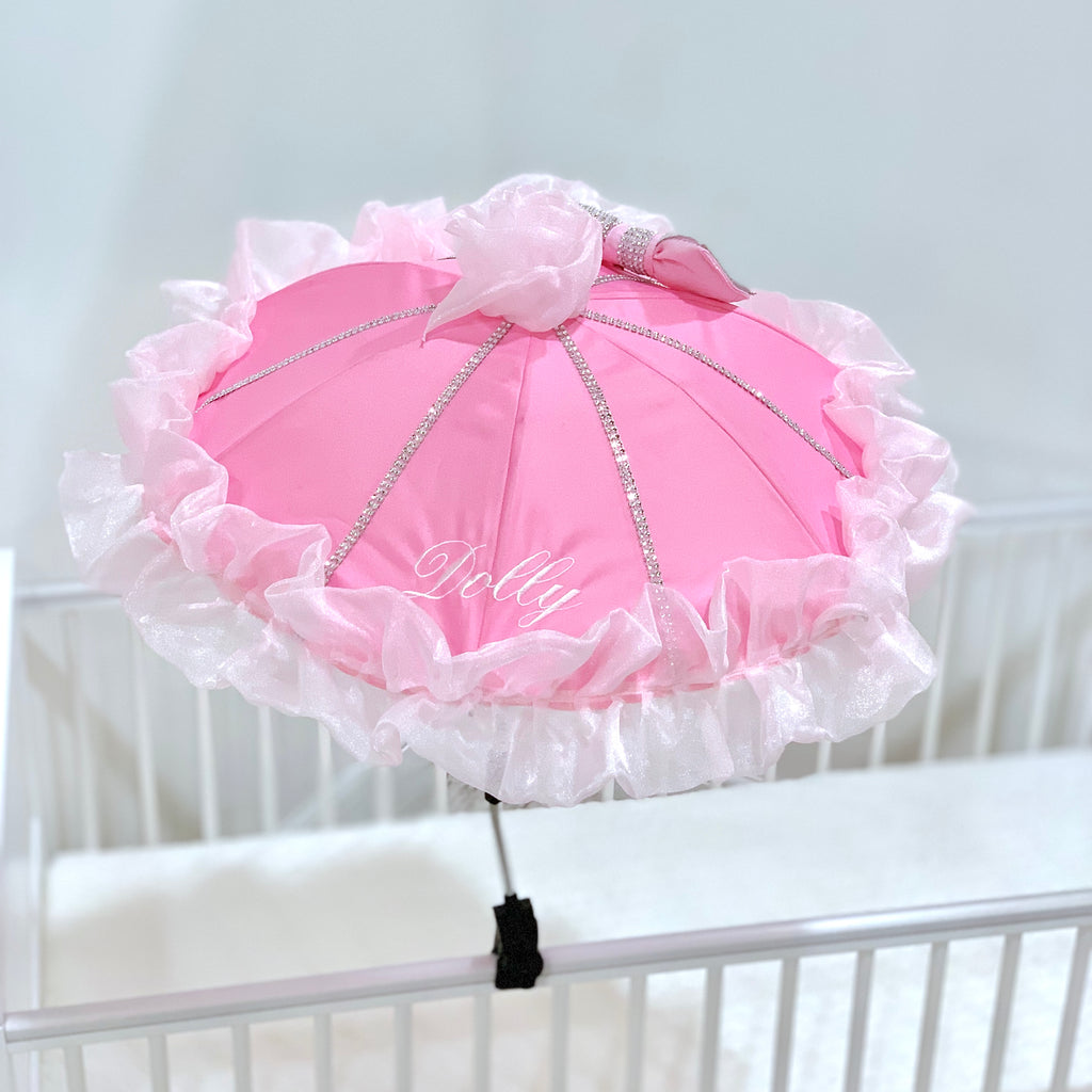 Personalised Pink Bling Parasol