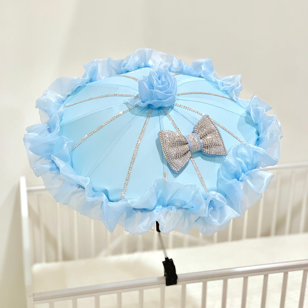 Personalised Blue Bling Parasol