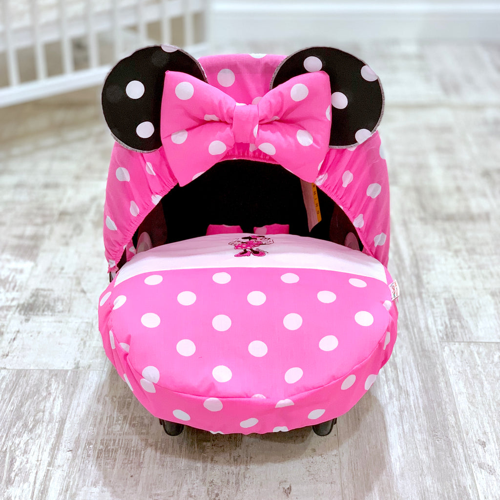 Personalised Minnie Mouse Car Seat Cover