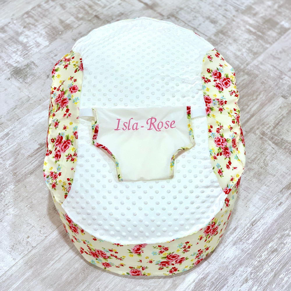 Personalised Cream And Scone Baby Bean Bag