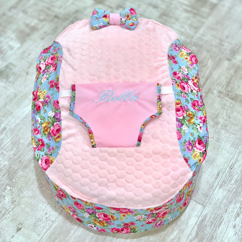 Personalised Vintage Floral Baby Bean Bag