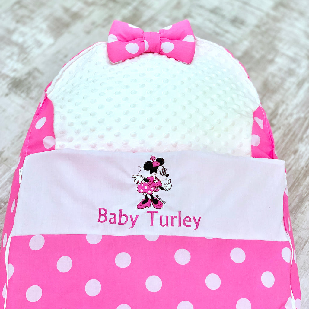 Personalised Minnie Mouse Baby Bean Bag Sleep Pod