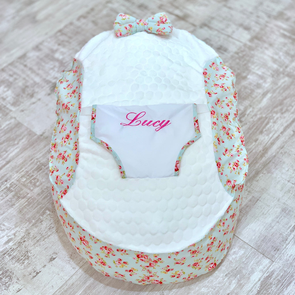 Personalised Meadow Floral Baby Bean Bag
