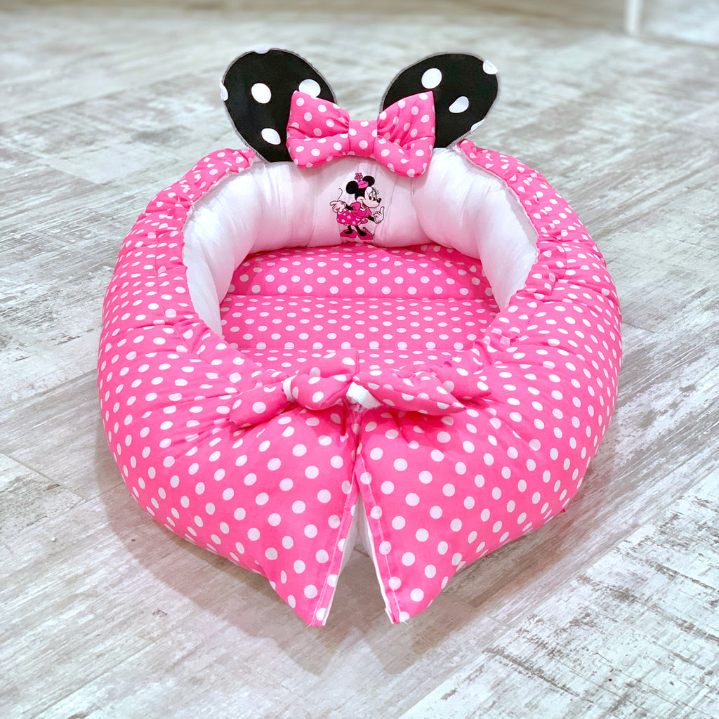 Personalised Minnie Mouse Baby Sleep Nest Pod