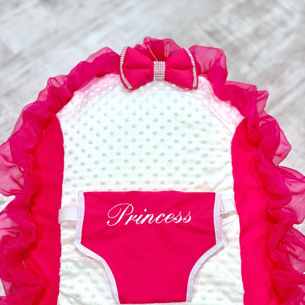 Personalised Cerise Pink Bling Baby Bean Bag