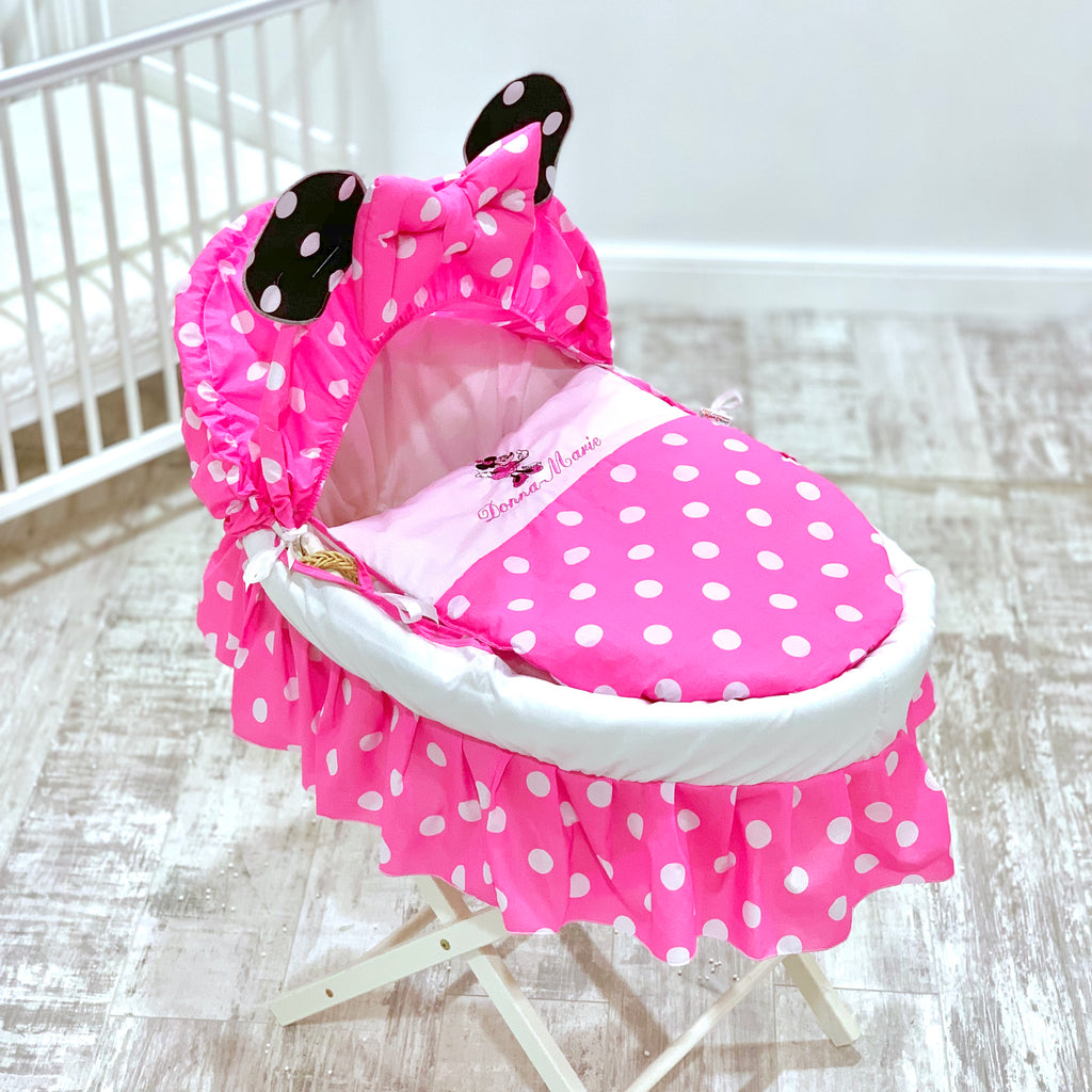 Personalised Minnie Mouse Moses Basket Set