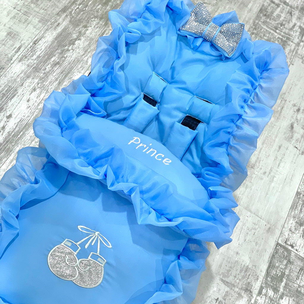 Blue Frilly Bling Boxing Glove Footmuff