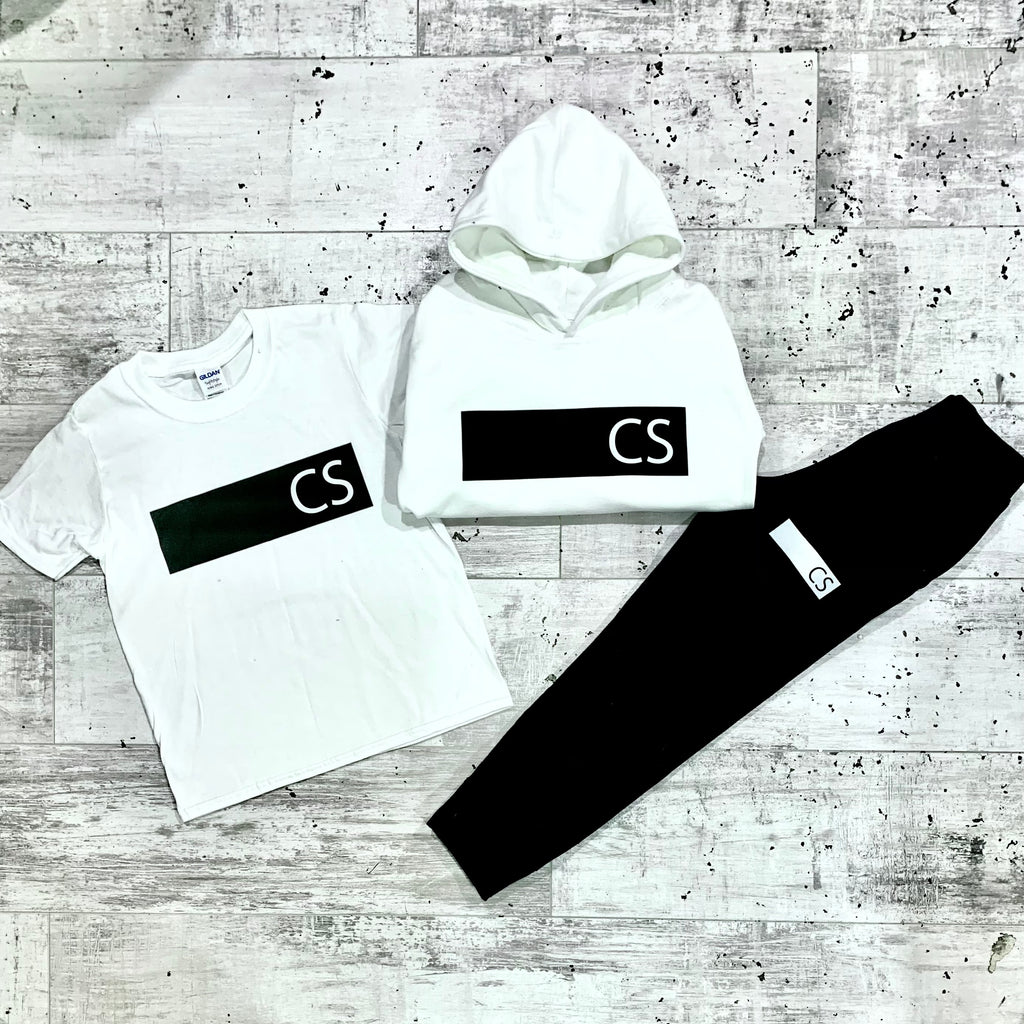 Personalised Black And White Initial Tracksuit Lounge Set