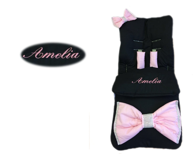 black-extra-large-pink-bow-footmuff
