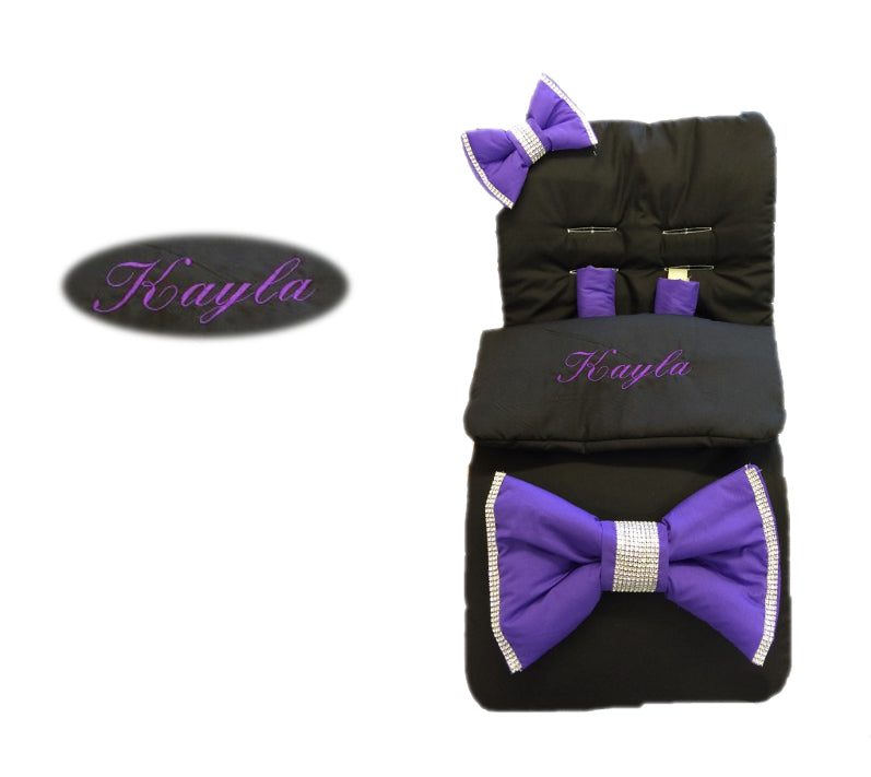 black-extra-large-purple-bling-bow-footmuff