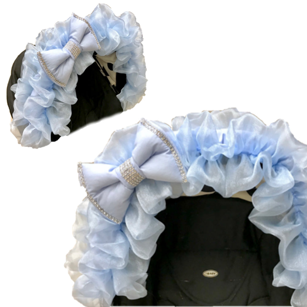 blue frilly hood trim web