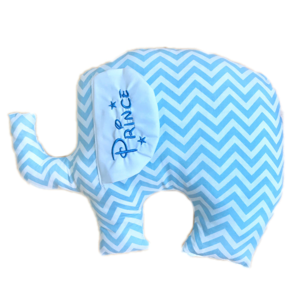 blue zig zag elephant coushion web