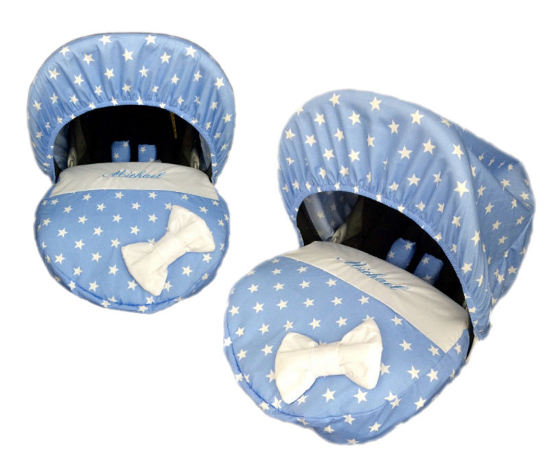 Personalised Blue Star Car Seat Cover
